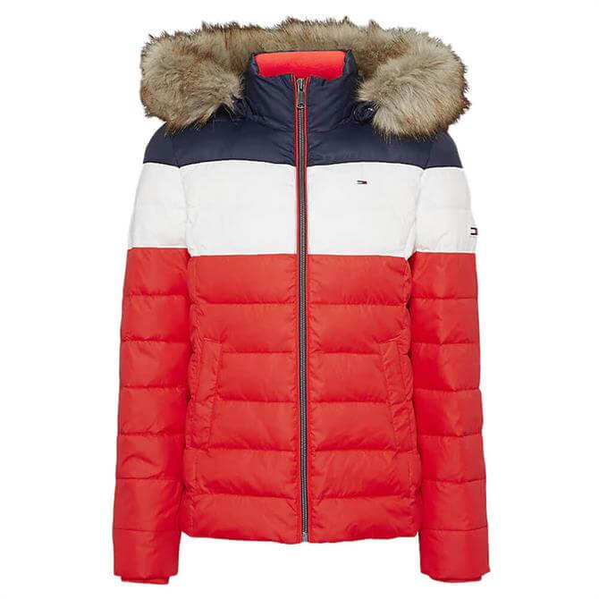 Tommy Jeans Colour-Blocked Padded Jacket