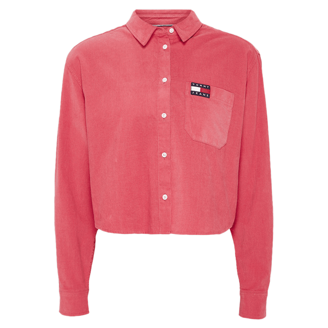 Tommy Jeans Cropped Fit Washed Corduroy Shirt