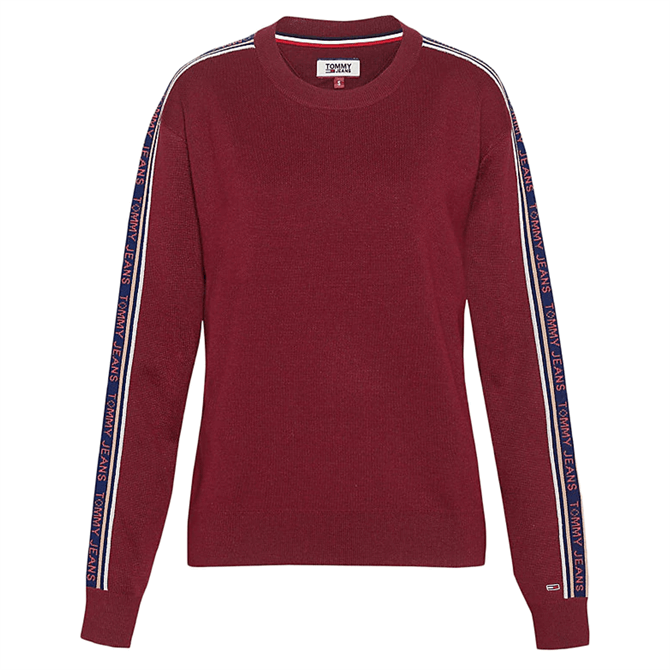 Tommy Jeans Tape Detail Crew Neck Jumper