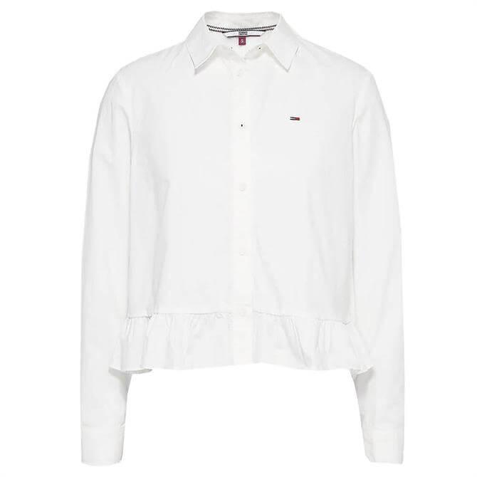 Tommy Jeans Frill Hem Organic Cotton Shirt