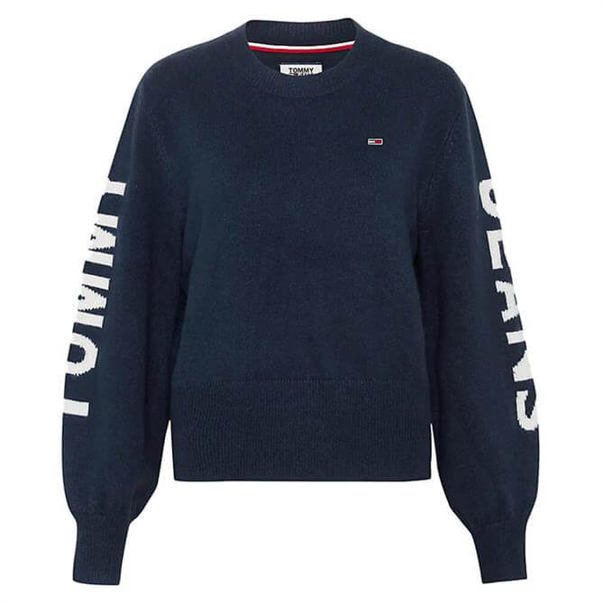Tommy Jeans Logo Sleeve Cropped Fit Jumper