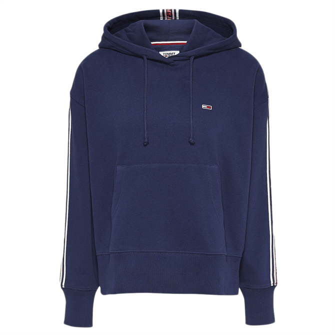 Tommy Jeans Logo Tape Drawstring Hoodie