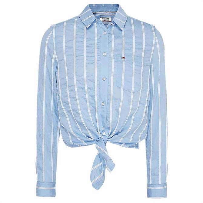 Tommy Jeans Front Knot Striped Shirt