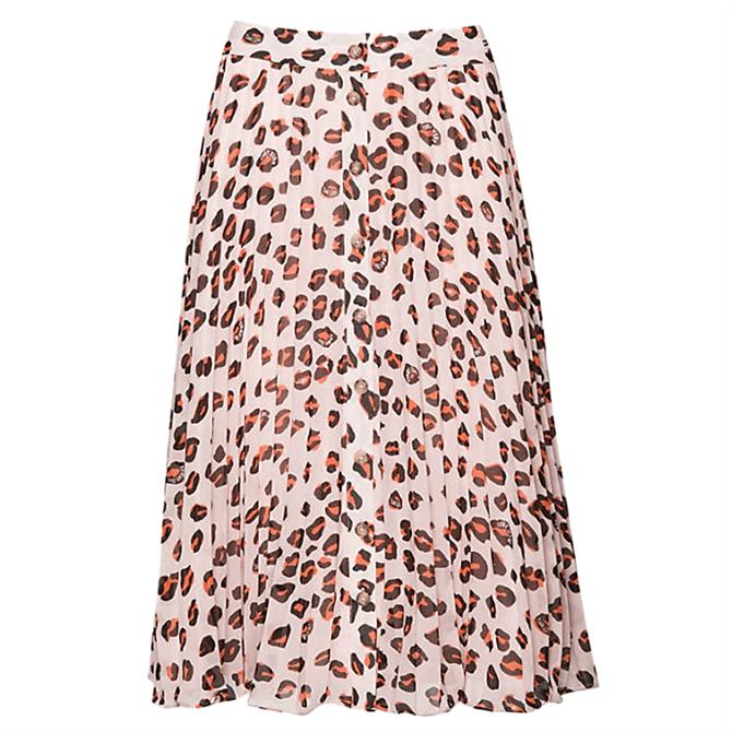 Tommy Jeans Leopard Print Midi Skirt