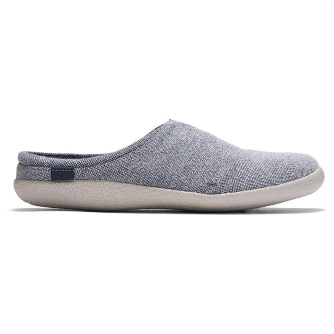 TOMS Grey Two Tone Felt Berkeley Slippers