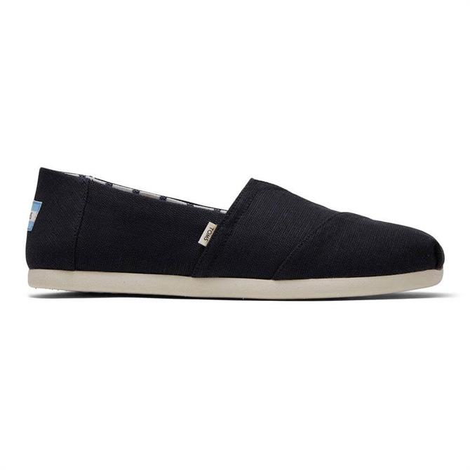 TOMS Black Canvas Classic Slip-ons