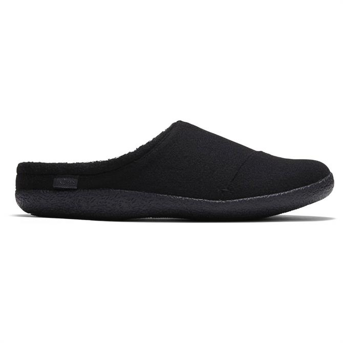 TOMS Black Two Tone Felt Berkeley Slippers