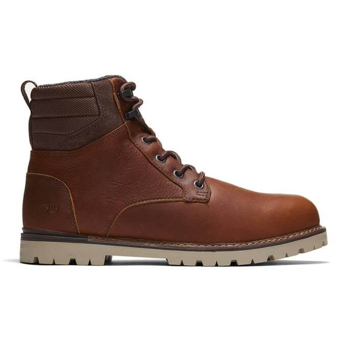 TOMS Waterproof Ashland 2.0 Brown Leather Boots
