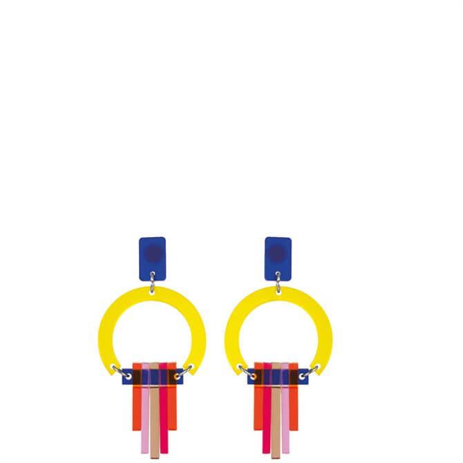 Toolally Art Deco Citrus Chandeliers Earrings