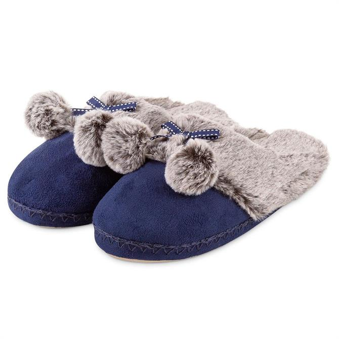 Totes Suedette Fur Mule Slippers