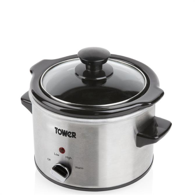 Tower Stainless Steel 1.5L Slow Cooker