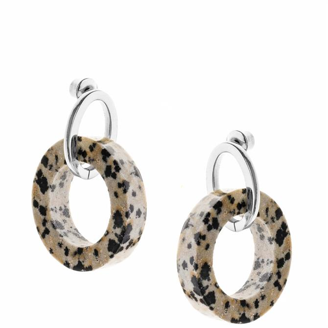 Tutti & Co Jasper Stone Hoop Earrings