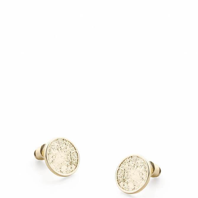 Tutti & Co Gold Plated Grain Stud Earrings