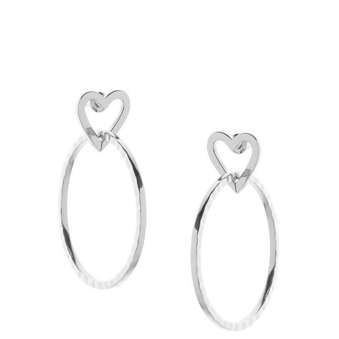 Tutti & Co Heart Saint Earrings