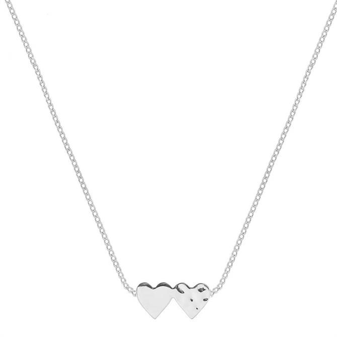 Tutti & Co Connect Heart Silver Necklace