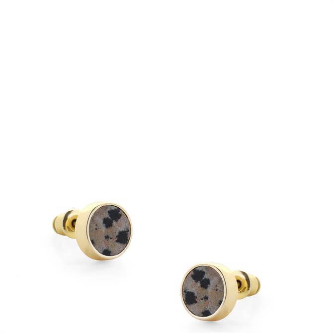 Tutti & Co Light Jasper Stone Stud Earrings
