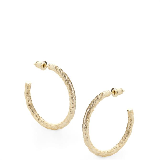 Tutti & Co Texture Hoop Earrings