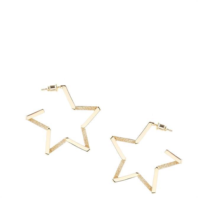 Tutti & Co North Star Hoop Earrings