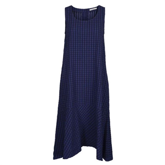 Two Danes Sienna Checked Seersucker Sleeveless Dress