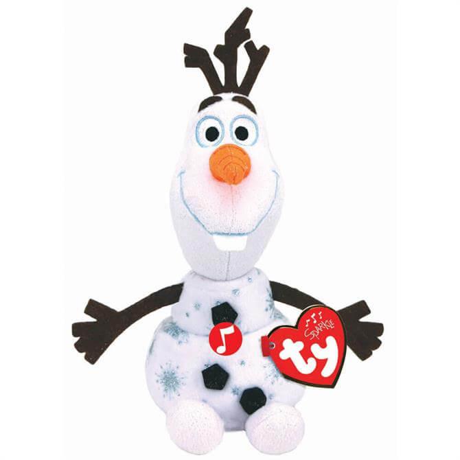 Ty Beanie Babies Sparkle Disney's Olaf with Sound