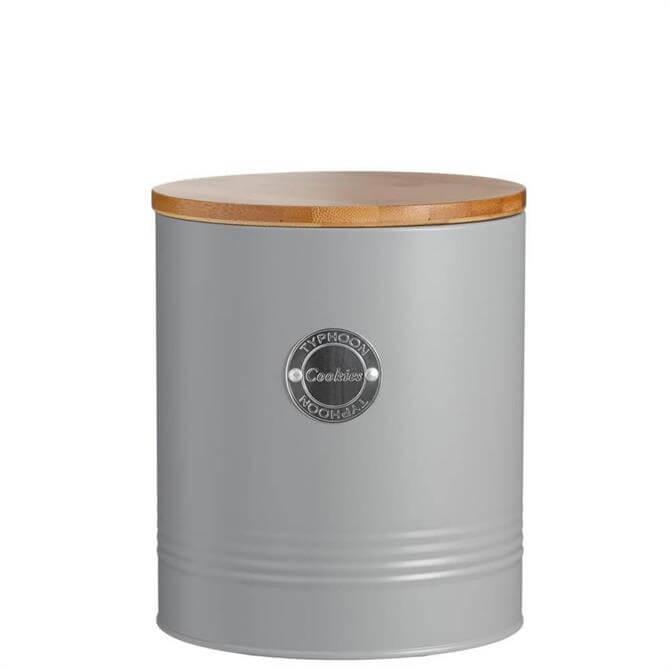 Typhoon Living Grey Cookies Storage Tin