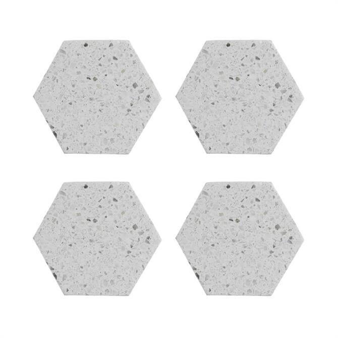 Typhoon Elements Set of 4 Terrazzo Hexagonal Coasters