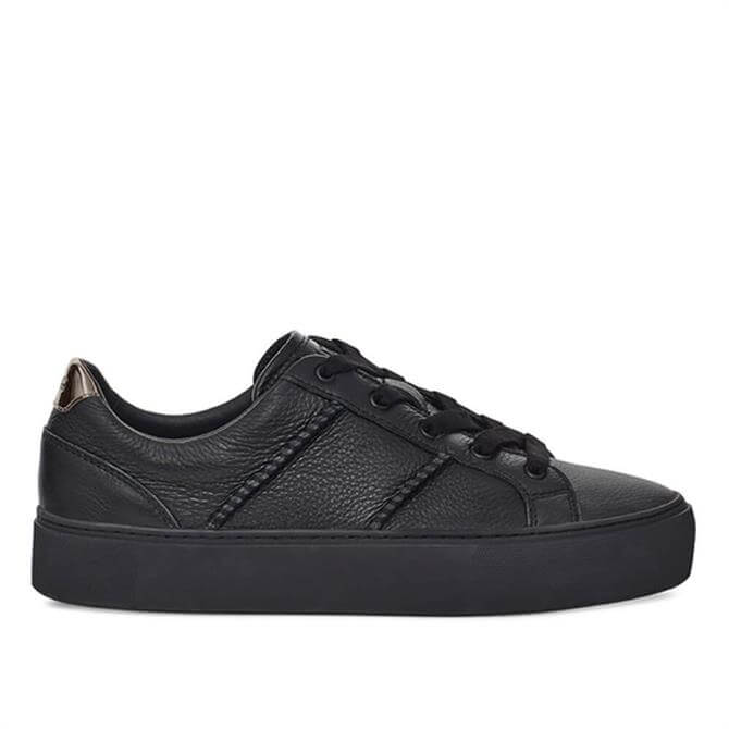 UGG Dinale Black Leather Trainers