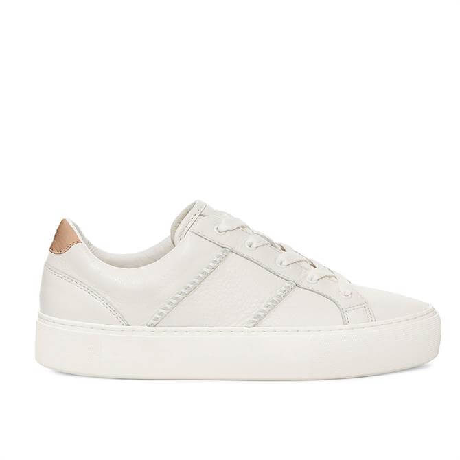 UGG Dinale Leather Trainers in Coconut