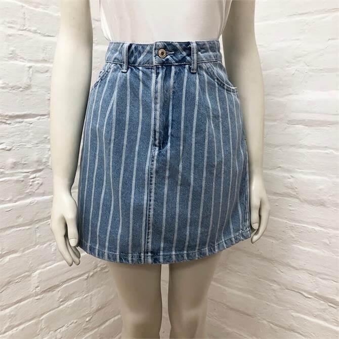 Benetton Denim Mini Skirt