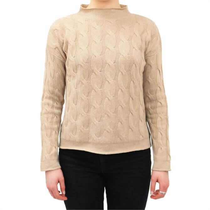 United Colors of Benetton Cashmere Blend Cable Knit Sweater