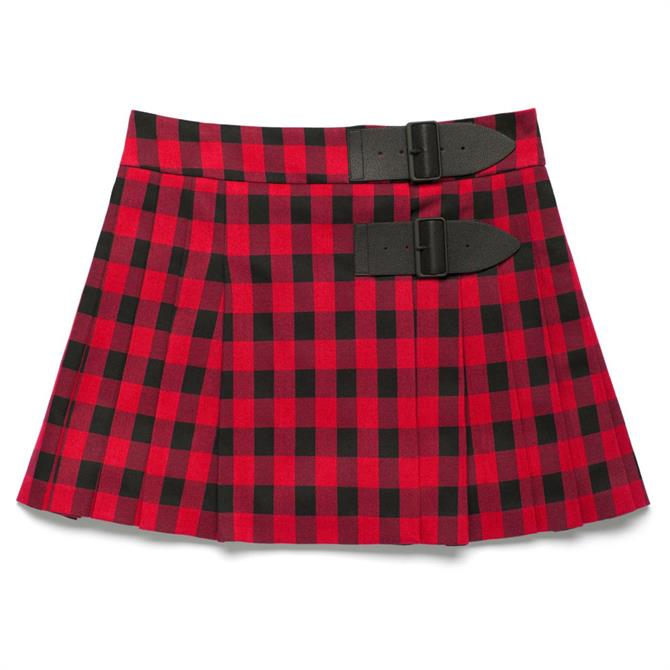 United Colors of Benetton Check Buckle Skirt
