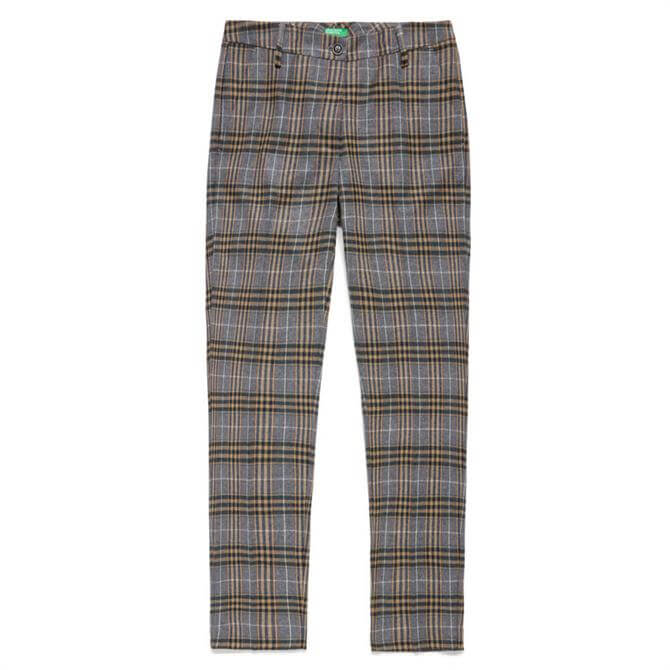 United Colors of Benetton Check Flannel Chinos