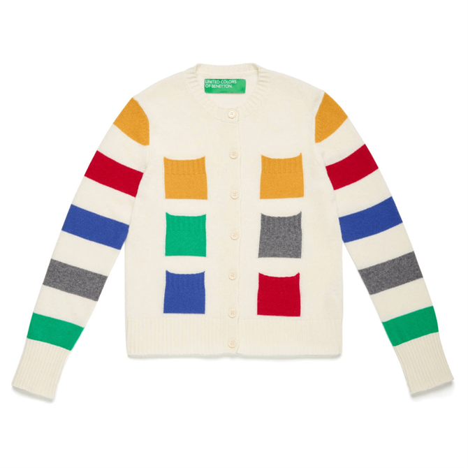 United Colors of Benetton Multicolour Pockets Cardigan