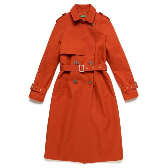 United Colors of Benetton Double-Breasted Trench Coat