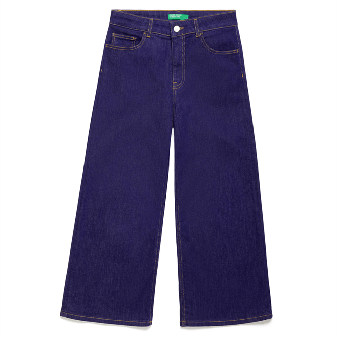 United Colors of Benetton Cropped High-Waisted Jeans
