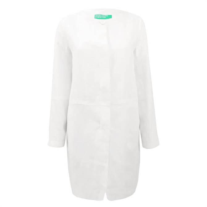 United Colors of Benetton Women's Linen Coat