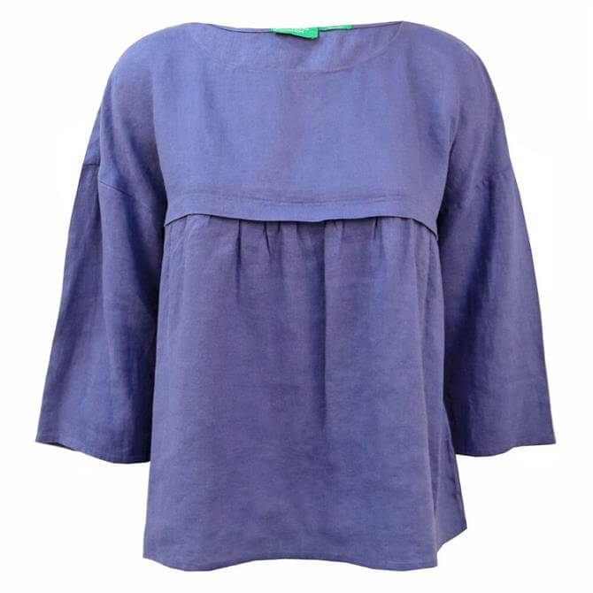 United Colors of Benetton Linen Smock Blouse