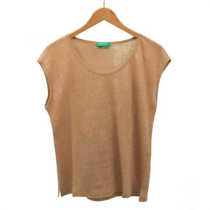 United Colors of Benetton Short Sleeve Linen Top