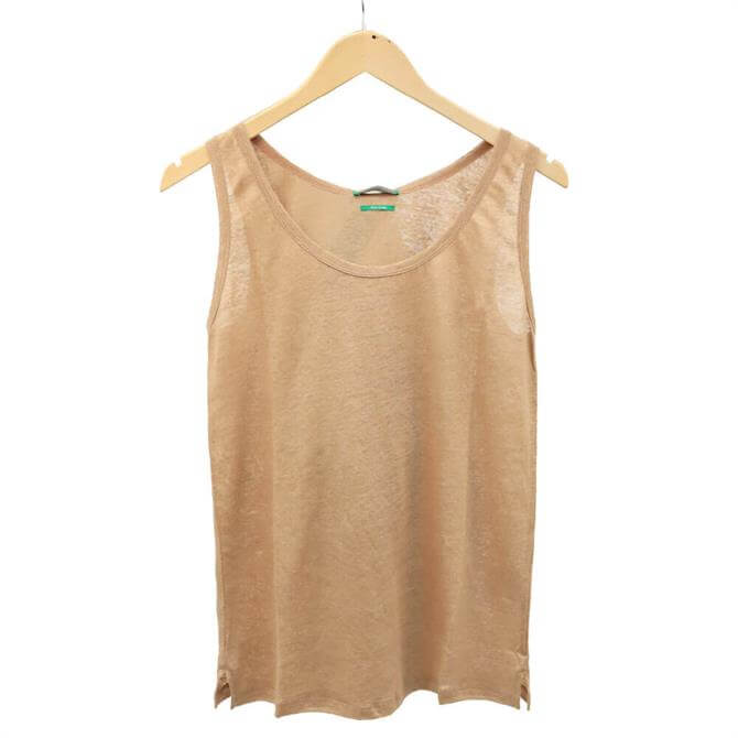 United Colors of Benetton Sleeveless Linen Vest Top