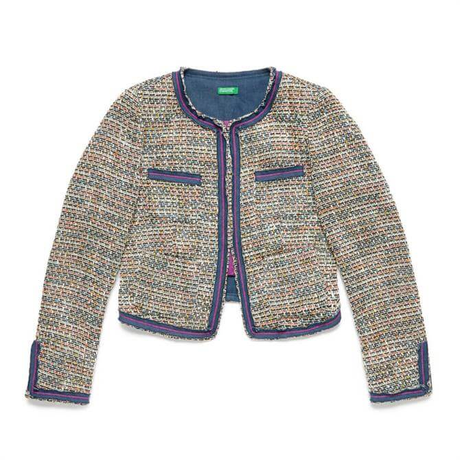 United Colors of Benetton Multicolour Lurex Jacket