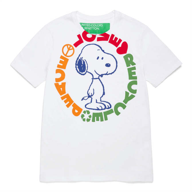 United Colors of Benetton Oversized Peanuts Snoopy T-Shirt