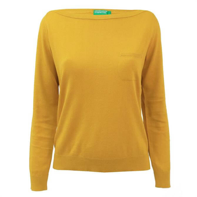 United Colors of Benetton Relaxed Boatneck Sweater