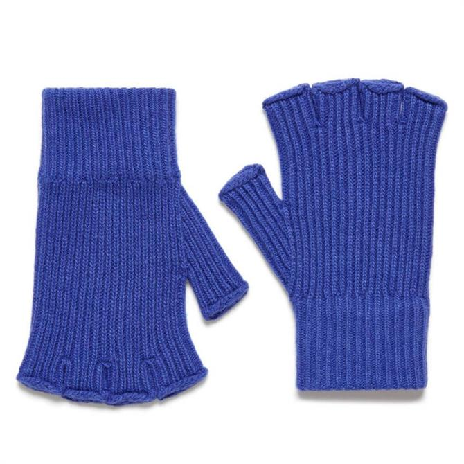 United Colors of Benetton Ribbed Knit Fingerless Gloves