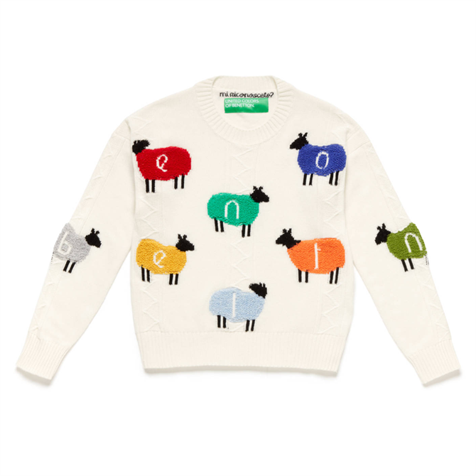 United Colors of Benetton Multicolour Sheep Sweater