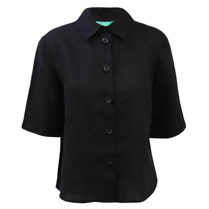 United Colors Of Benetton Short Sleeved Linen Shirt