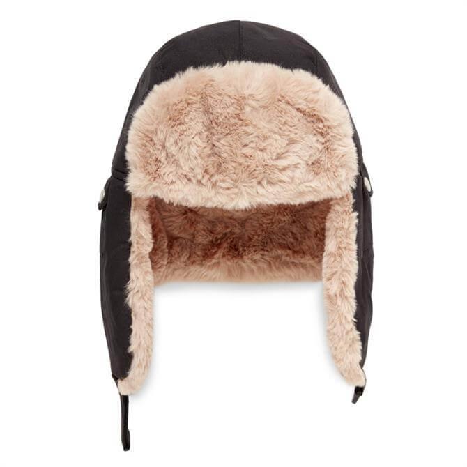 United Colors of Benetton Soft Faux Fure Flap Hat
