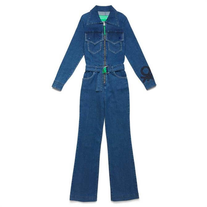 United Colors of Benetton Zip Front Jumpsuit