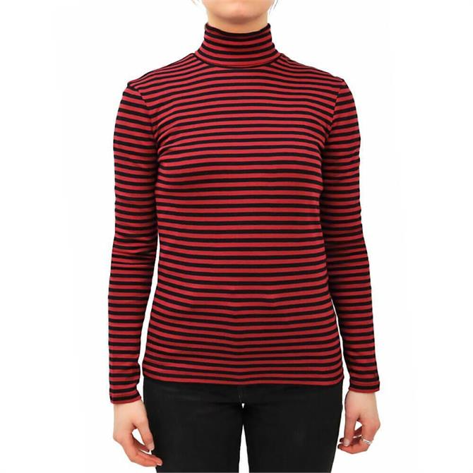 United Colors of Benetton Striped Turtleneck Long Sleeved Top
