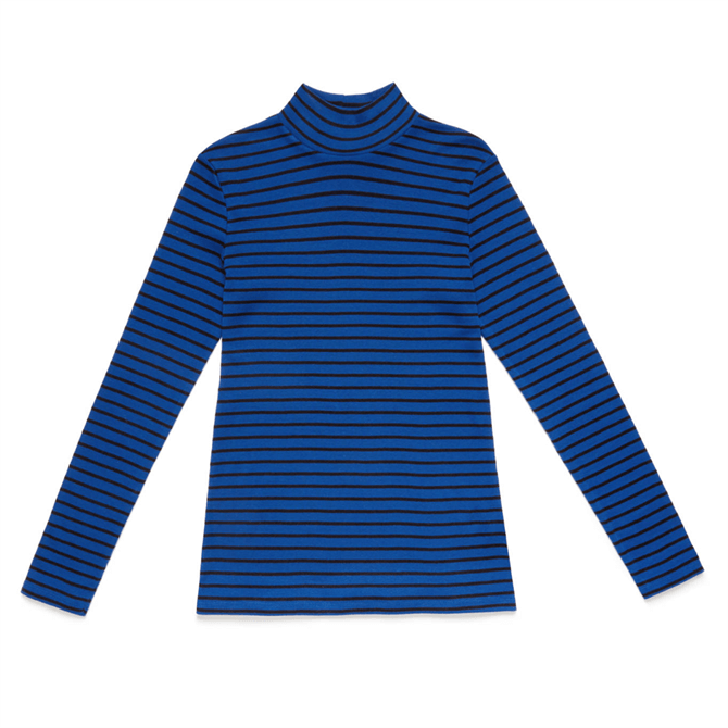 United Colors of Benetton Yarn Dyed Striped Turtleneck Top