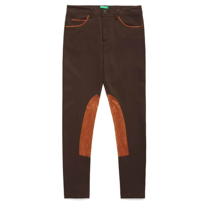 United Colors of Benetton Faux Suede Detail Trousers